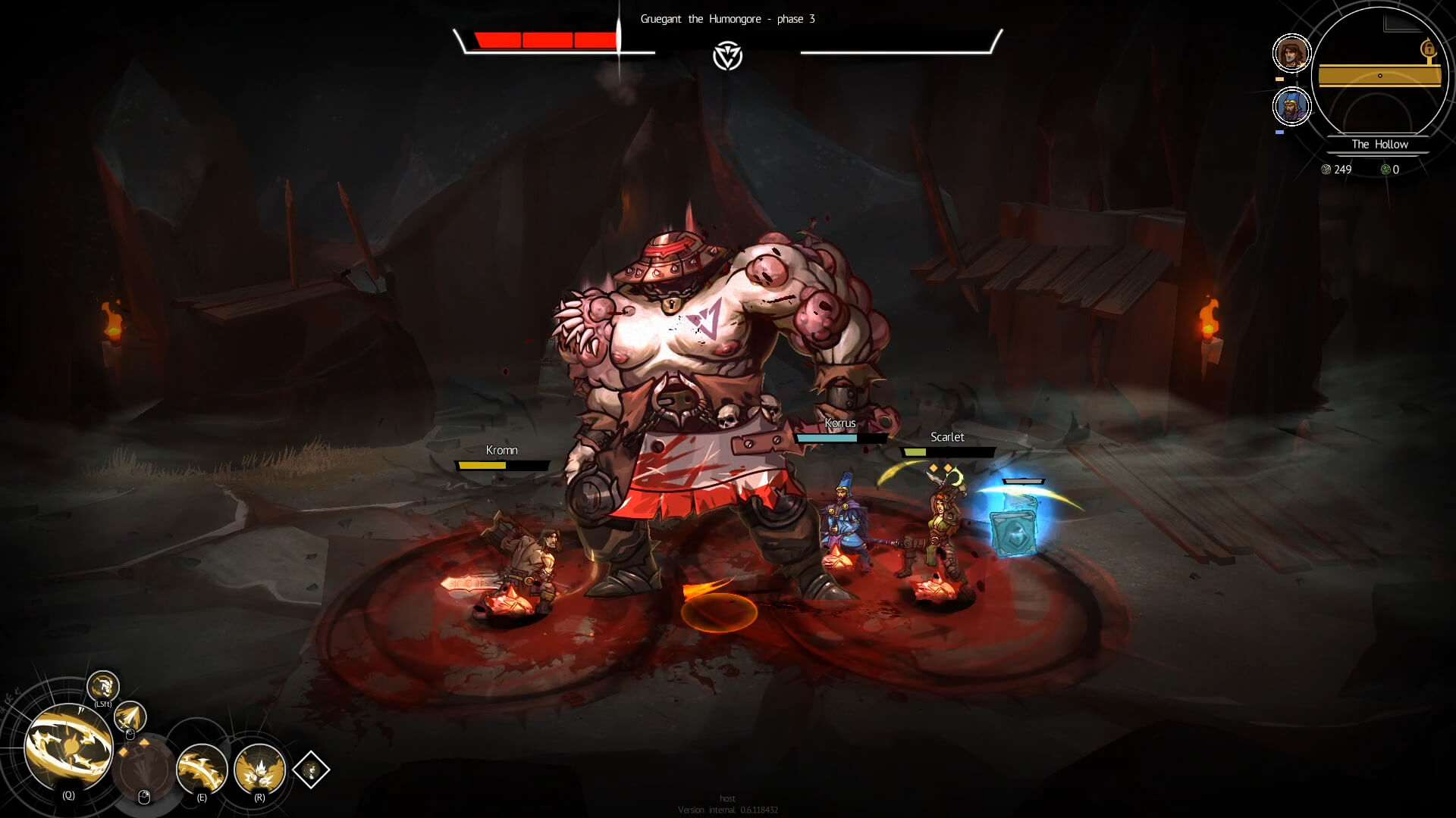 Boss fights are especially brutal in Blightbound.