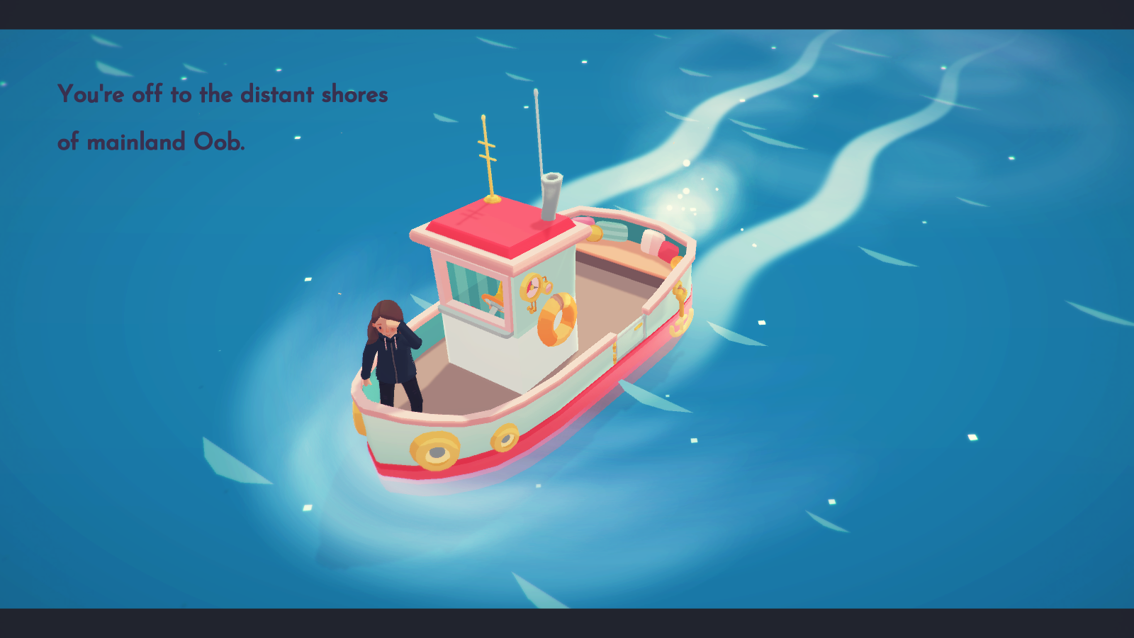 The boat leaves for Oob