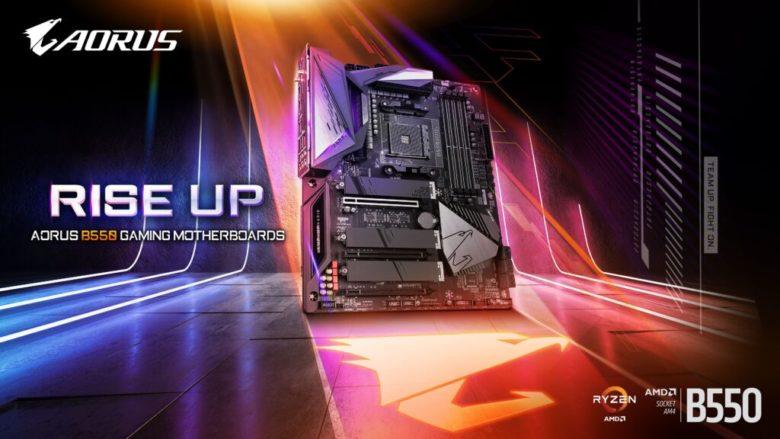 AMD aorus b550 motherboard