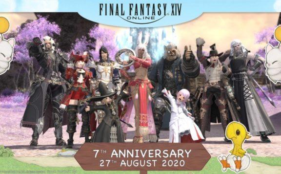 Final Fantasy XIV Online 7th Anniversary Photograph