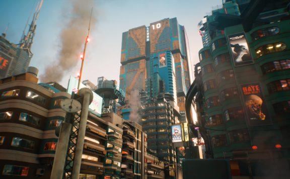 cyberpunk 2077 night city map story image
