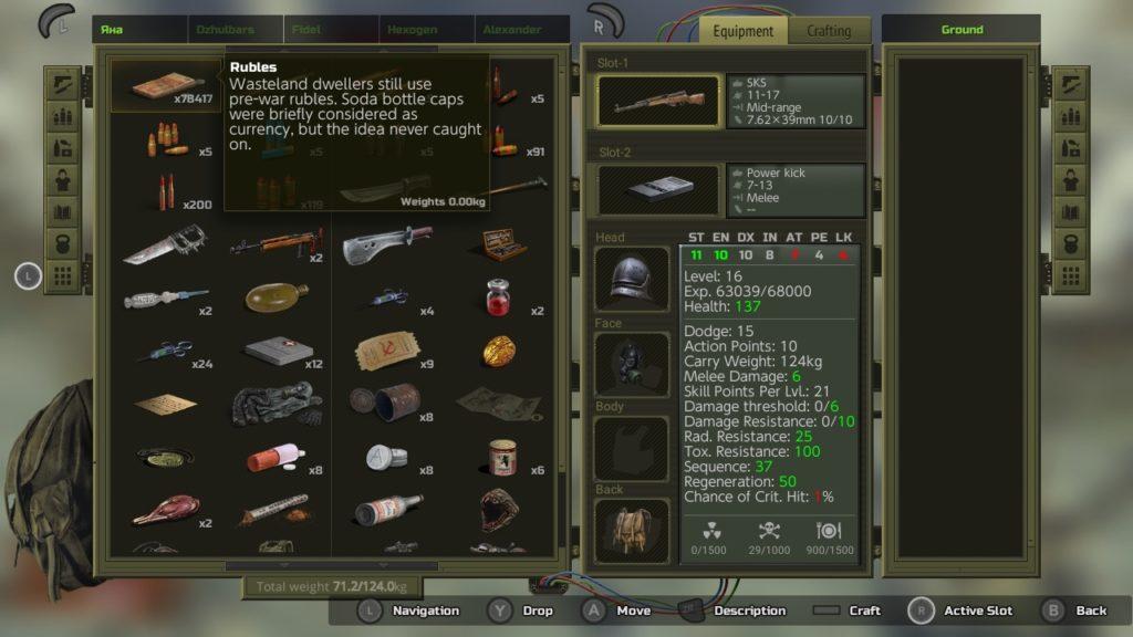 Atom RPG - Inventory