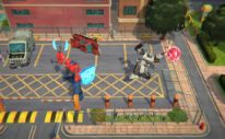 transformers battlegrounds screenshot. optimus versus megatron
