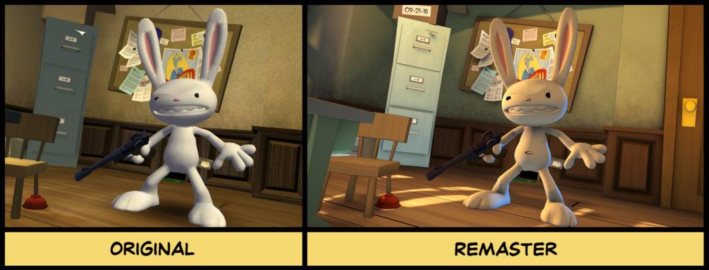 sam and max remastered comparison