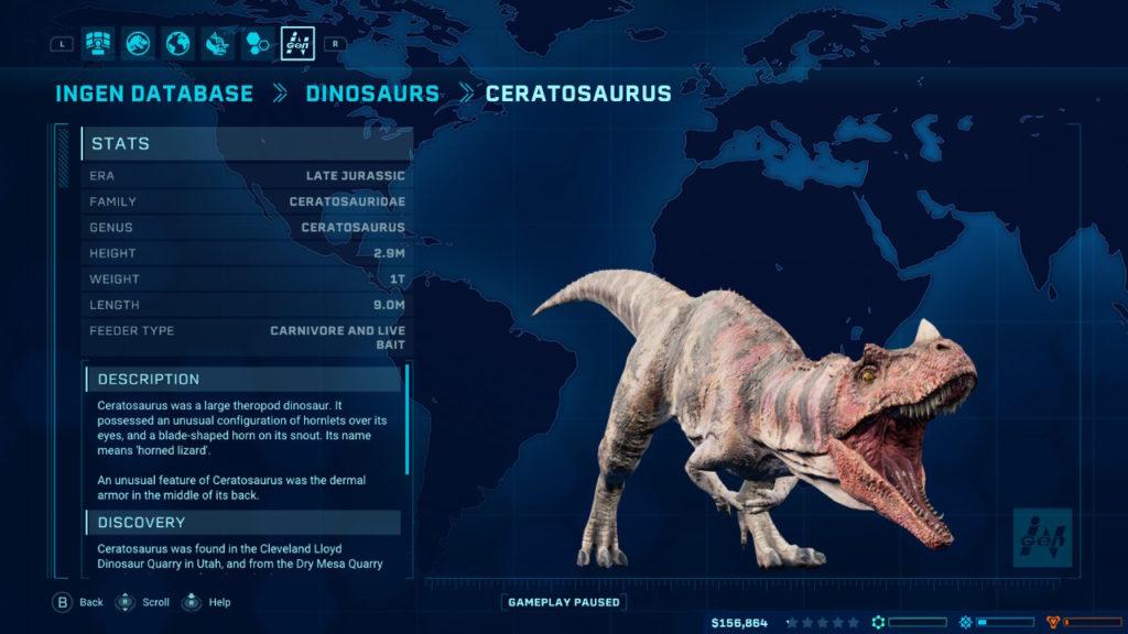 Jurassic World Evolution - Ceratosaurus
