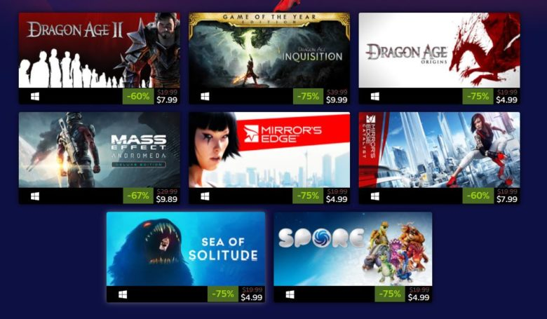 Some Electronic Arts Games are Currently on Sale on Steam