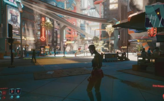 cyberpunk 2077 review cityscape