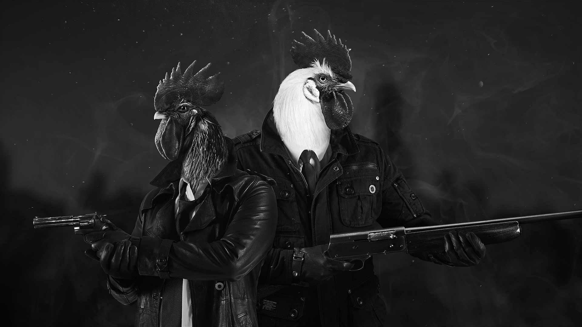 Marty and Sonny in Chicken Police.