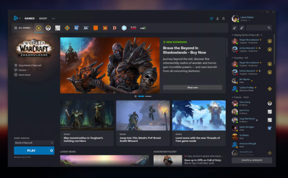 Blizzard Showed Off New Design of Battle.Net App
