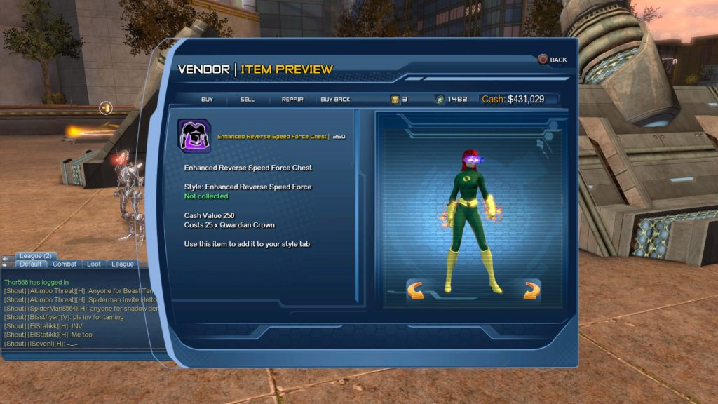 DC Universe Online Speed Force Style