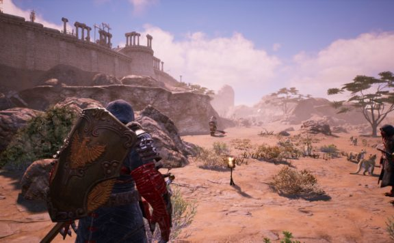 bless unleasehed PC Beta Test 2 screenshot of two characters in he desert