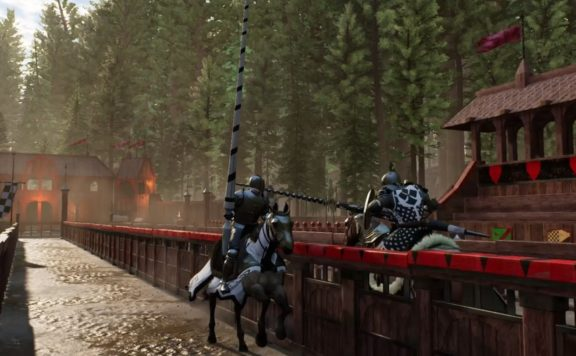 Inside Chronicles of Elyria update - picture of horse jousting