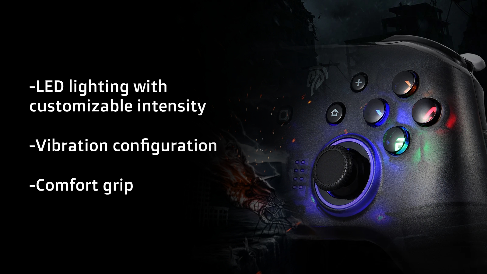 The EasySMX ESM 4108 wireless controller has incredible customization.