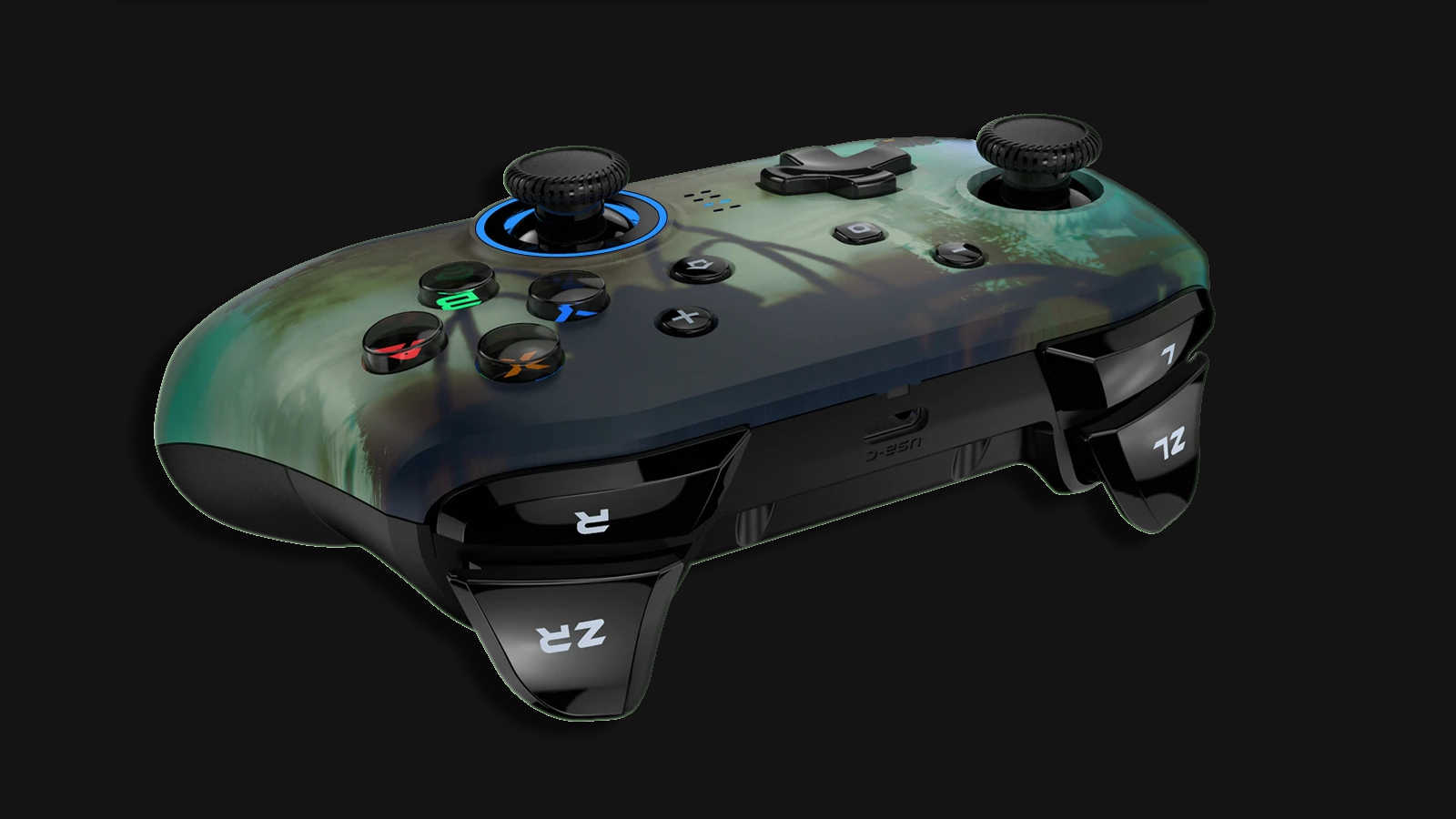 A top view of the controller can be seen.