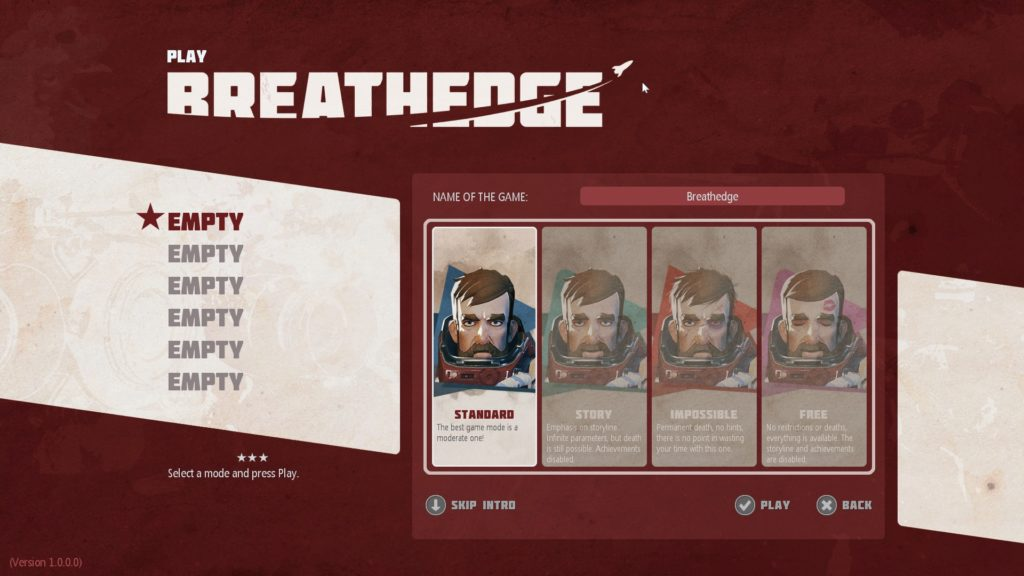 Breathedge Play Modes