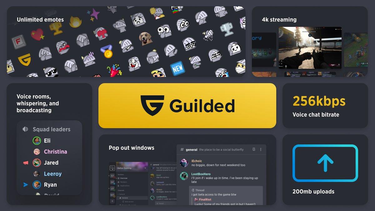 Unlimited emotes guilded