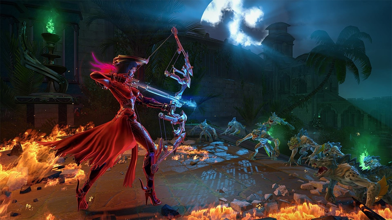 Battling minions of Reapers in Skyforge.
