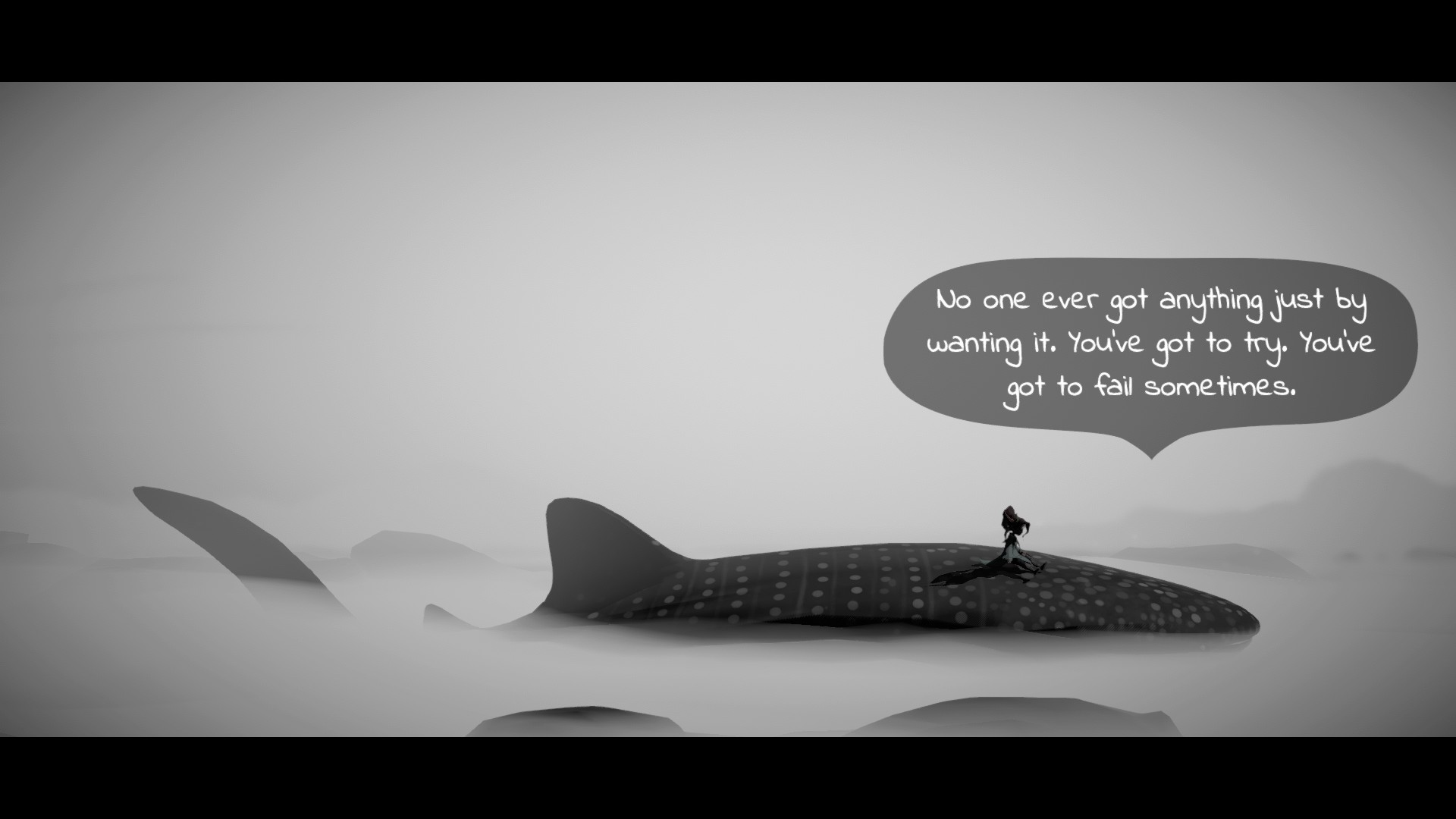 Izzy talks to her whale friend in Lost Words: Beyond the Page.
