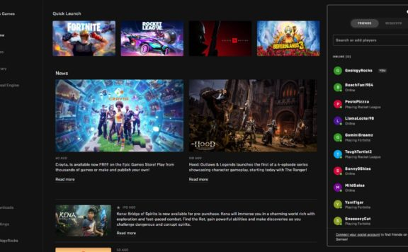 Epic Games Store Outlines Social Update