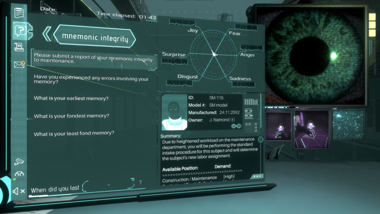 Silicon Dreams - Cyberpunk Interrogation Now Available in Steam