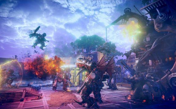 elyon closed beta announced - screenshot of mechs n combat