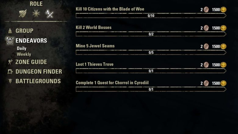 The Elder Scrolls Online - Endeavors System Available Now