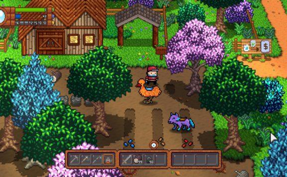 monster harvest screenshot of farm and monsters