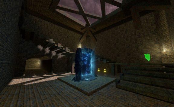 quake champions the dark room map screenshot