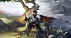 Crowfall Launch And The Long Game Developer Interview - concept art of a knight sitting with a sword