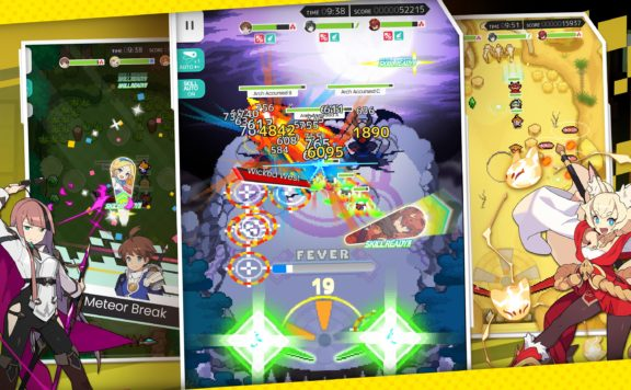 World Flipper Is Coming To Mobiles In September - shots of pinball combat