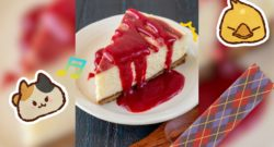 The Ultimate Final Fantasy XIV Cookbook a picture of some cheesecake from the book