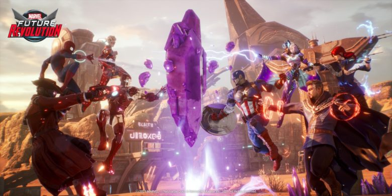 marvel future revolution hands-on preview picture of marvel heroes in combat stances