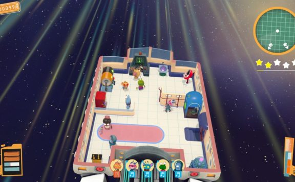 Spacelines From The Far Out Opens Pre Order Check In - picture of players in spaceliner