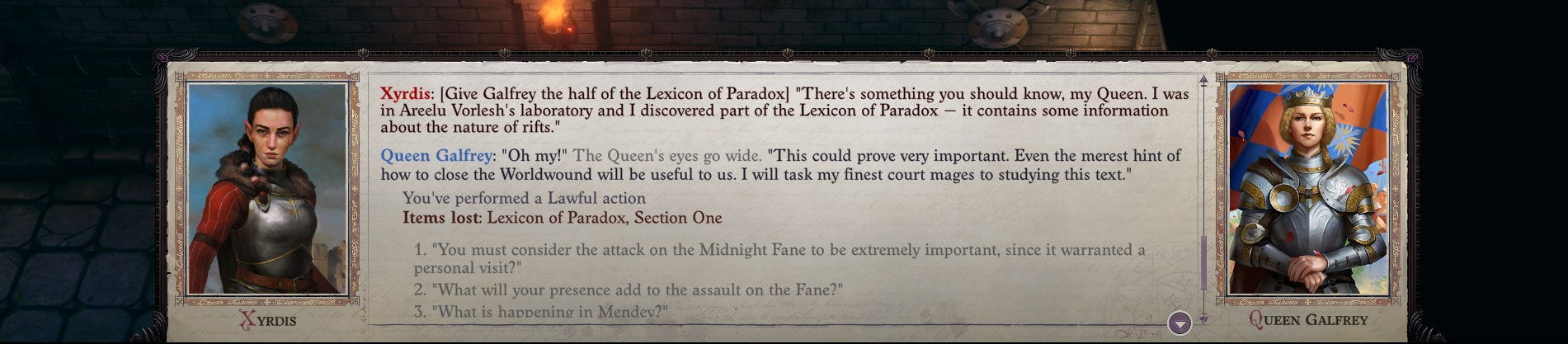 PF: WotR - Lexicon of Paradox