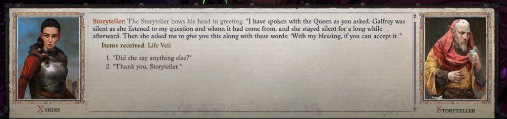 Queen Galfrey Romance Guide - Storyteller Return Act IV