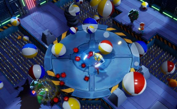 gone viral goes viral - a picture of a bot on a mechanical turntable with beach balls