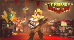 Trove Strikes Up The Bard On Console - the bard plays a guitar