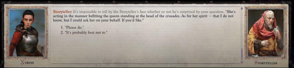 Queen Galfrey Romance Guide - Storyteller Act IV