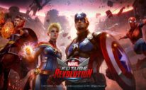marvel future revolution developer interview - a shot of the marvel heroes standing ready to fight
