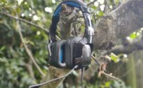 Philips TAGH401BL Gaming Headset Review - philips headset hanging on a tree