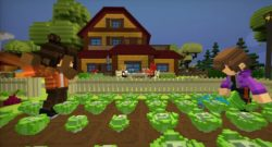 Staxel Is Coming To Nintendo Switch v- players in a farm field