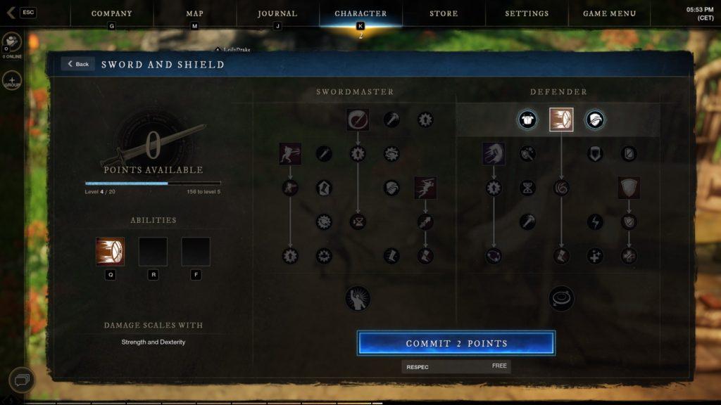 new world sword skills