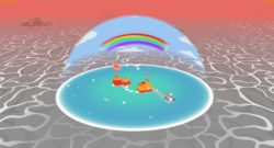 Rainbow Billy: The Curse of the Leviathan Brings A Colorful New Adventure To PC and Console Tomorrow. - boat in a sea of grey is pouring color back into the world